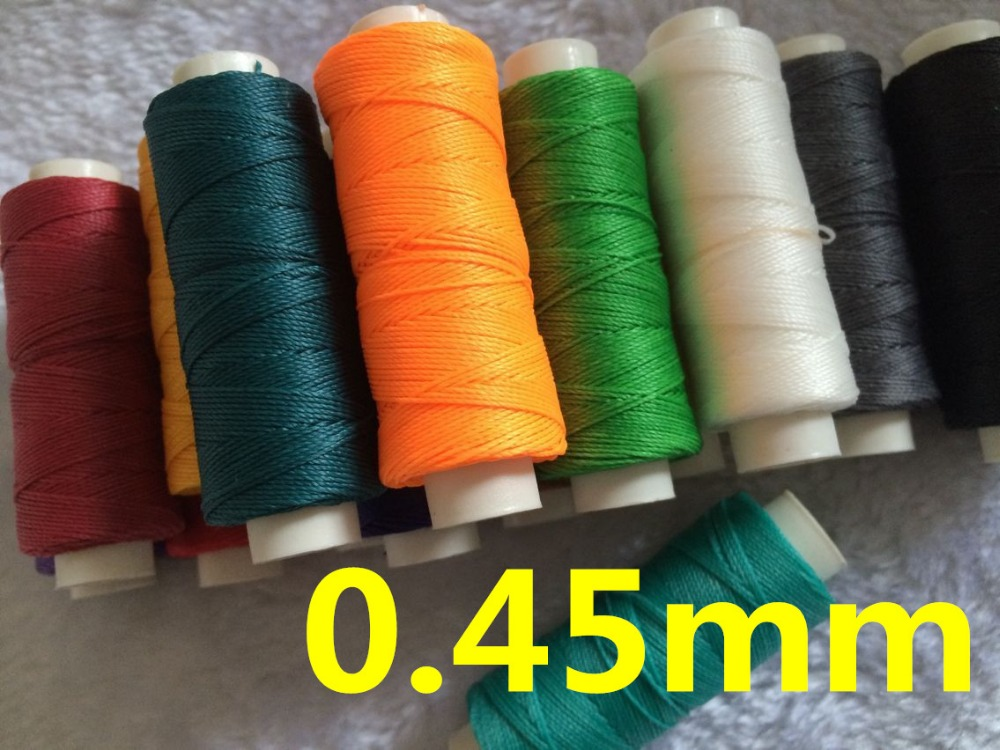 JH001  0.45mm 50 Meters Waxed Thread Sting For Leather Sewing, Waxed Leather String Thread