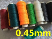 0.45mm 50 meters Waxed Thread for Leather Sewing