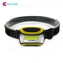 KHLITEC Mini COB LED Headlamp 4 Modes Waterproof Headlight Head Flashlight Head Torch Lanterna For Outdoor Camping Night Ride(China)