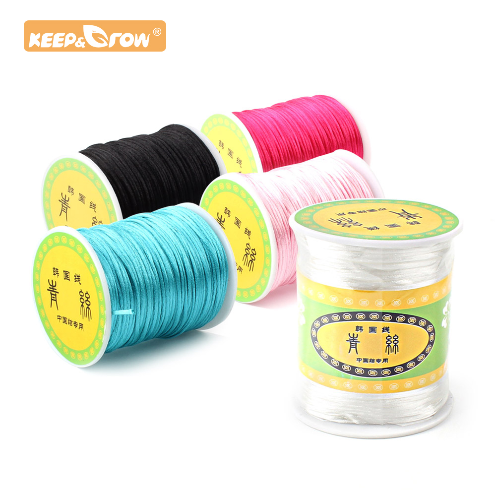Keep&Grow 80M Satin Nylon Rope 1.5mm Professional Pacifier Chain Cords Silicone Beads Baby Teethers Tools For DIY Baby Necklace