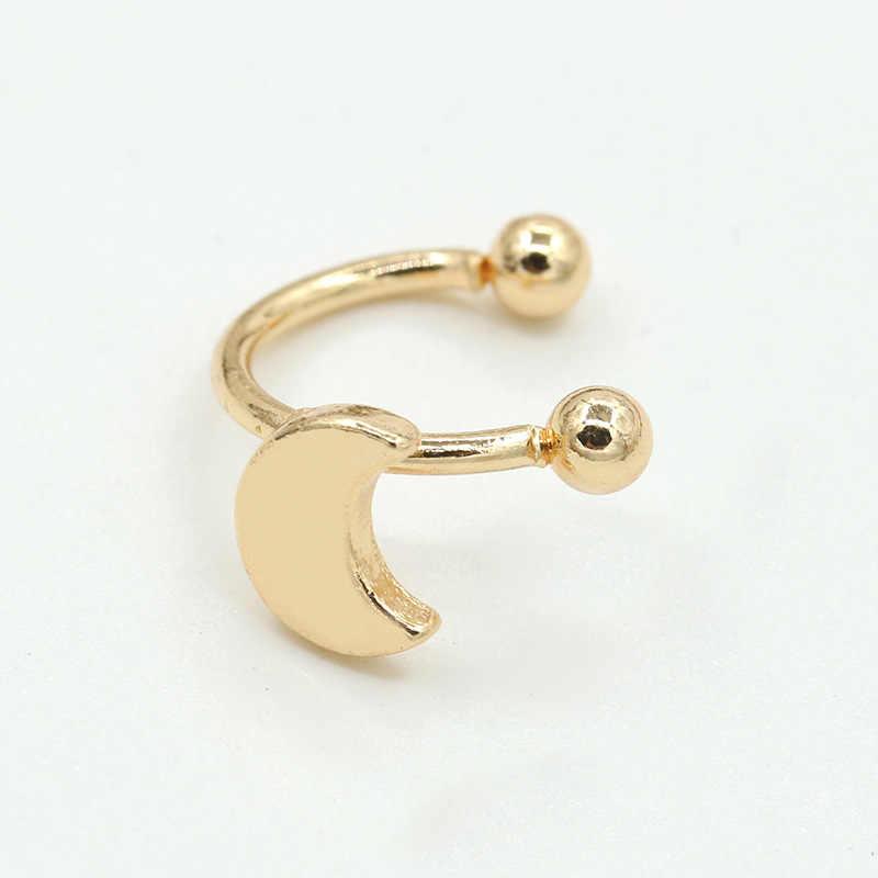 Hart Ster Maan Driehoek Vormige Clip Oorbellen Zonder piercing Gouden Zilveren Oor Manchet Mode Wrap Oorbellen voor Vrouwen