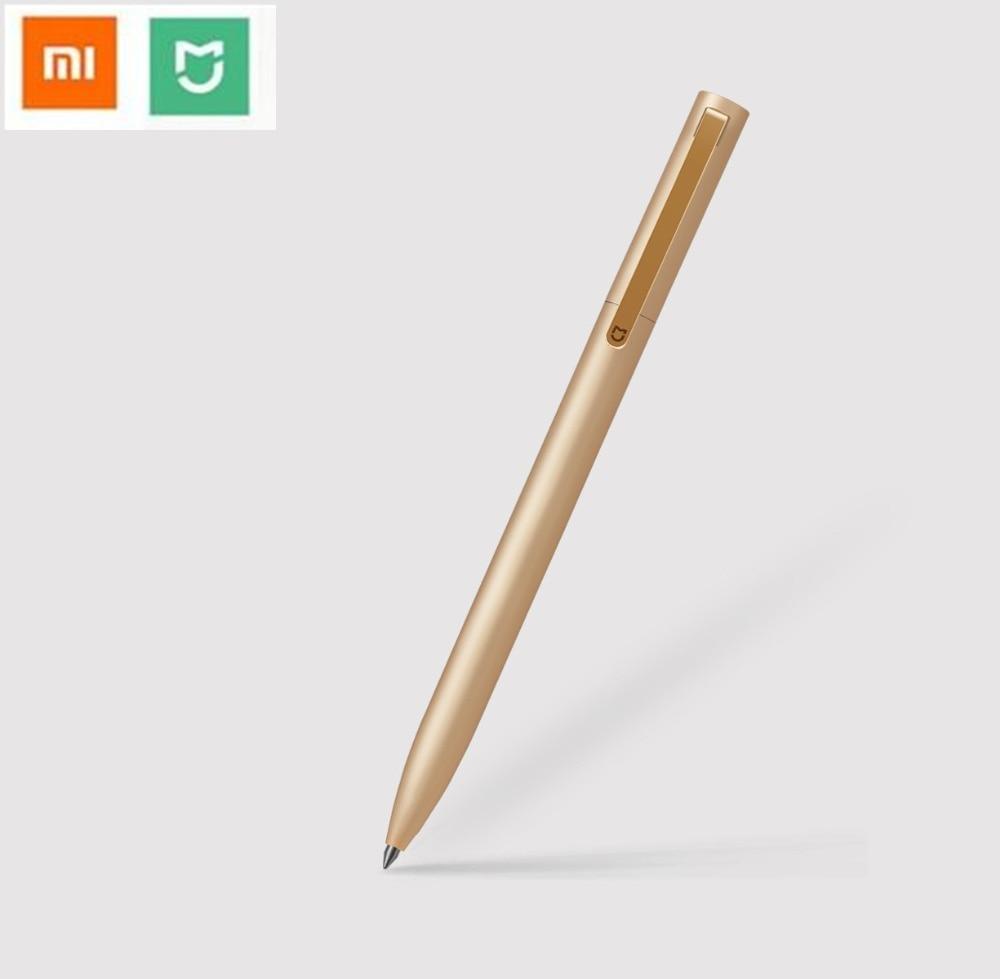 Original Xiaomi Mijia Metal Sign 9.5mm PREMEC Smooth Switzerland Black Refill Gold/Silver Durable