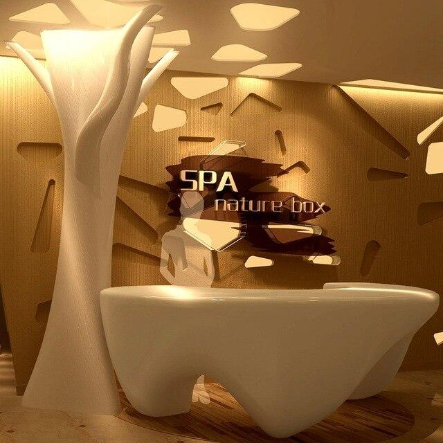 Heißer Verkauf Großhandel Schönheitssalon Modernen Verwendet 3 Geformt  Rezeptionen Zähler Rezeption Möbel Dekoration # QT2000