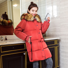 купить KUYOMENS Fake Fox Fur Collar Winter Coat Women 2017 New Fashion Winter Jacket Women Parka Long Down Jacket Female Warm Outerwear по цене 1913.94 рублей