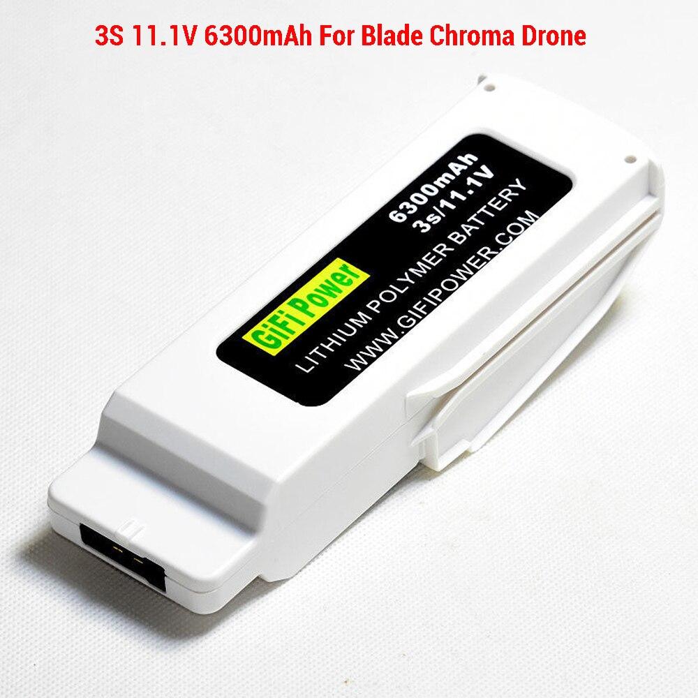 3 S 11.1 V 6300 mAh LiPo batterie pour lame Chroma Drone RC FPV quadrirotor lipolymère 3 S 11.1 V 6300 mAh lame Chro