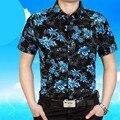 2017 Летом Стиль Моды для Мужчин Slim Fit С Коротким Рукавом Рубашки Мужчины Высокого Качества Вскользь мужские Рубашки Camisa Masculina Camisas Hombres