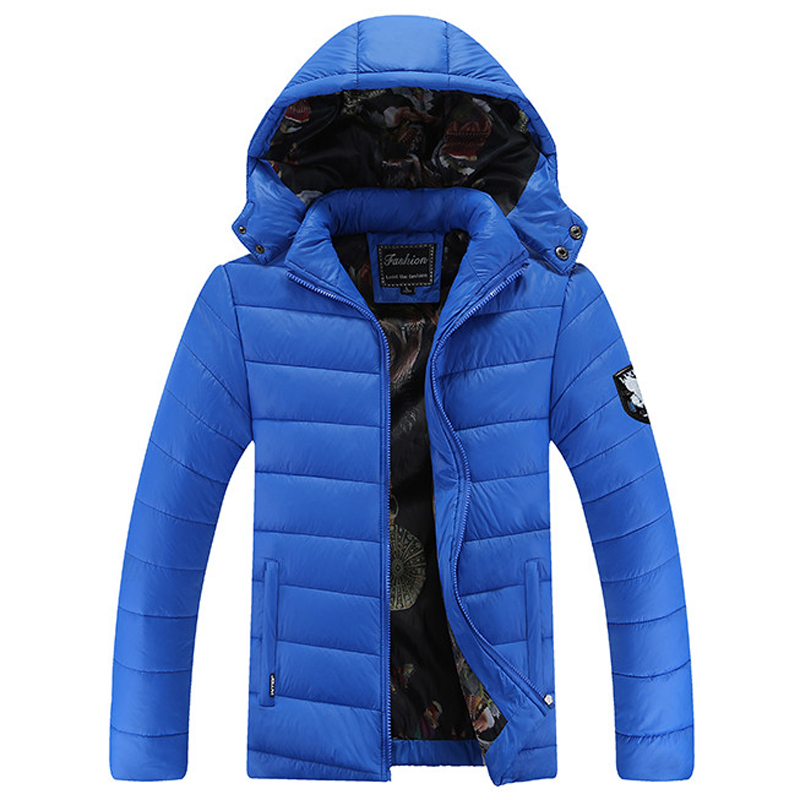 Men Parka Hooded Warm Fashion 2016 For Winter Jacket mens cotton Down Coat Brand Clothing Homme Jaqueta Masculina size L~5XL