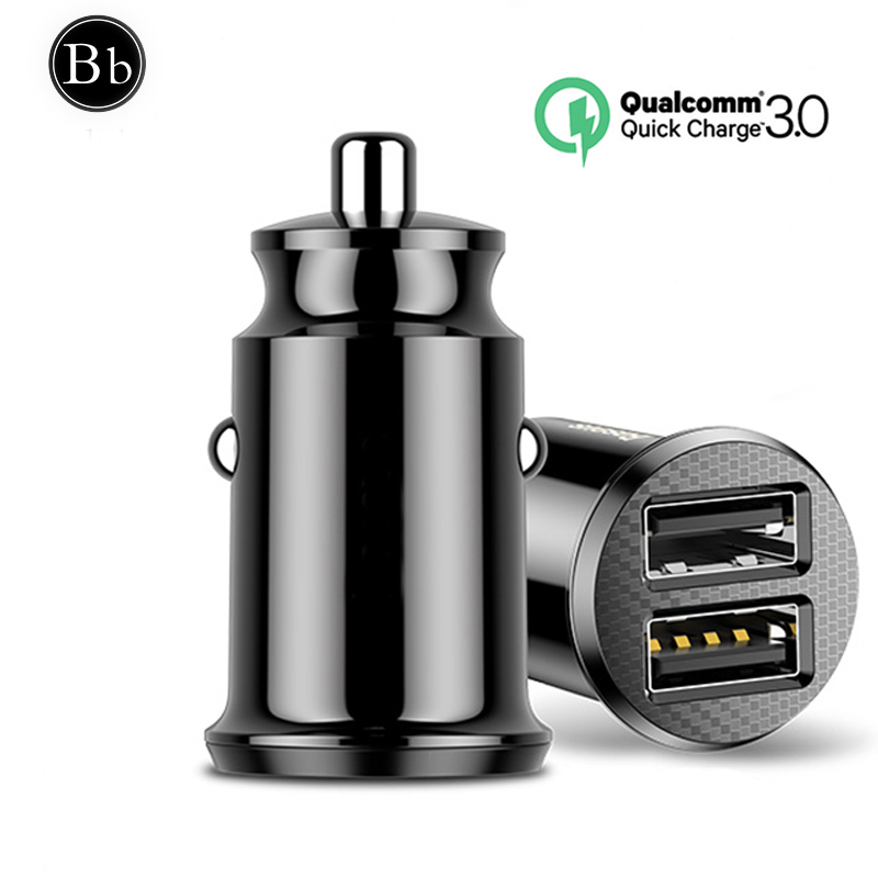 Buluby Mini USB Car Charger For Mobile Phone Tablet GPS 3.1A Fast Charger Car-Charger Dual USB Car Phone Charger Adapter in Car