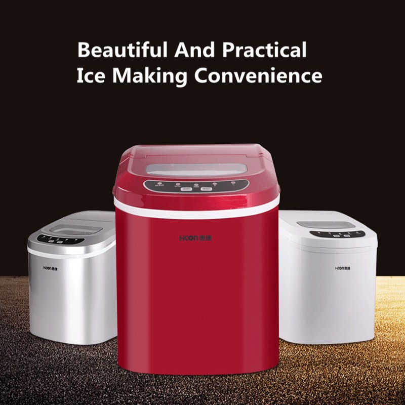 Portable Ice Maker Machine Commercial Round Bullet Glacier Maker Machine Cake Water 15kg/24h Dispenser Coffee Bar Kitchen Ice edtid portable automatic ice maker household bullet round ice make machine for family small bar coffee shop 220 240v 120w eu us