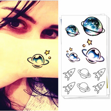 M-theory Small Universe Flash Tatoos Hand Sticker 10.5x6cm Fake Temporary Body Art Tattoo Sticker Swimsuit Dress Makeup