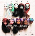 5pcs/lot Free Shipping Mixed Styles Doll Heads For Monster Dolls 1/6 Doll Accessories Demon Dolls DIY Head Kid's Gift Toys
