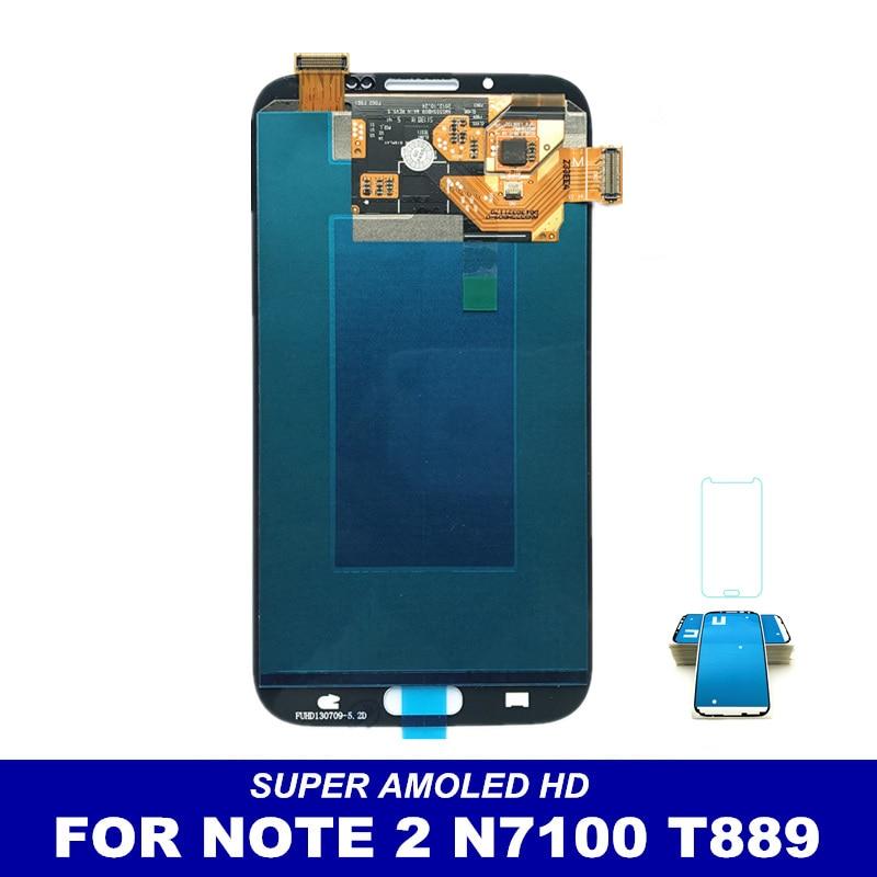imágenes para AMOLED LCD Reemplazar Para Samsung Galaxy Note N7100 Nota 2 N7105 T889 i317 i605 L900 LCD Display de Pantalla Táctil Digitalizador asamblea