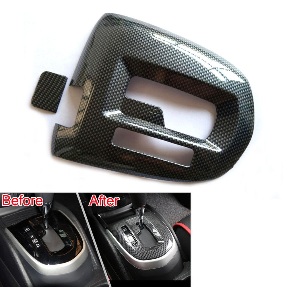 Carbon Fiber Style Car Inner Gear Shift Frame Cover Trim Panel Granish Decoration For Nissan Qashqai 2016 for nissan r35 gtr carbon fiber door mirror inner panel trinagle