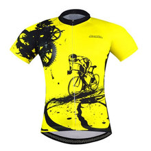 Retro Cycling Jersey Short Sleeve Race Fit  Mountain Bike Bicycle Reflective Shirts Coolmax