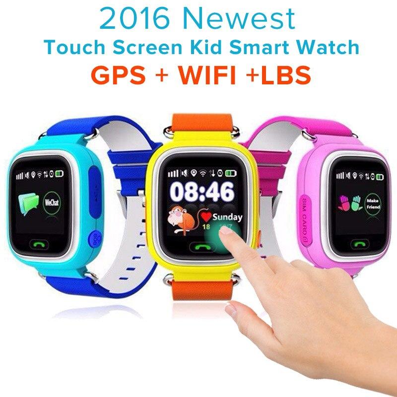 Q90 GPS LBS SOS Kids Children Baby Touch Screen Smart Watch Smartwatch Wristwatch Tracker locater Monitor