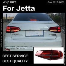 АКД стайлинга автомобилей для VW Jetta задние фонари 2015-2018 Jetta Mk6 светодиодный задний фонарь светодиодный DRL динамичного Стоп сигнал заднего хода авто аксессуары