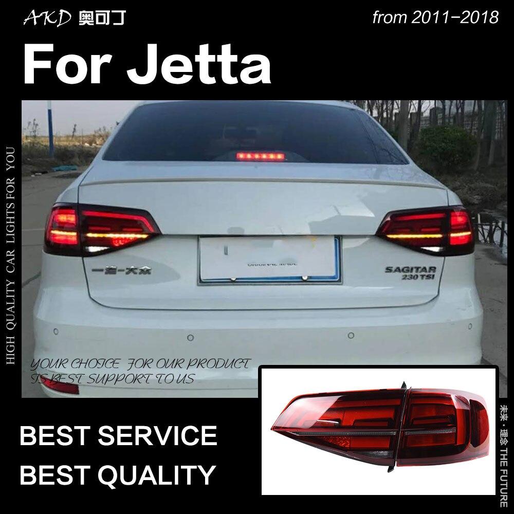 Luzes Traseiras de AKD Estilo Do Carro para VW Jetta 2015-2018 Jetta Mk6 CONDUZIU A Lâmpada de Cauda LEVOU DRL Sinal de Dynami freio Reverso auto Acessórios