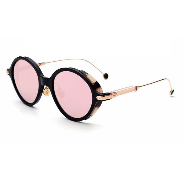 Alta Qualidade óculos de Sol Das Mulheres Pequeno rodada Polarizada Óculos De Sol para senhoras óculos de armação de Metal de Condução Óculos De Sol Dos Homens Da Marca do Desenhador