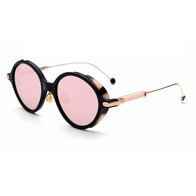 574dc507a9f4 High Quality Women Sunglasses Small round Polarized Sunglasses for ladies  Metal frame Driving Sunglasses Men Brand
