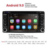 Hizpo Универсальный Автомобильный dvd плеер для Toyota Camry Corolla RAV4 4Runner Hilux Tundra Celica Auris радио 2 Din 6,2 ''в тире gps DSP