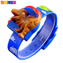 SKMEI Dinosaur Kids Watches Cartoon Digital Design PVC Strap