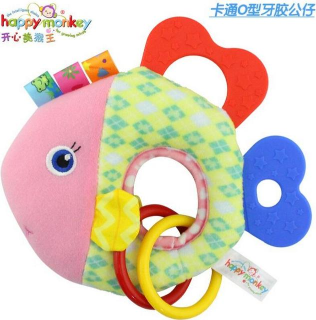 Baby Infant Cartoon Animal Giraffe Fish Handle Rattles Soft Plush Safety Teether Toys Teeth Care Doll For Kid 20%OFF 2