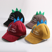 Spring Autumn Winter Kids Cap Cartoon Dinosaur Baseball for Boys Girls Black Red Yellow High Quality 3 Colors