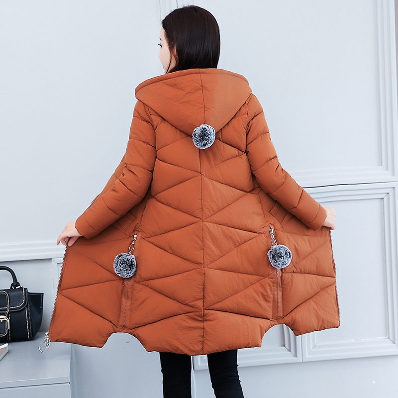 Winter Jacket Women Fashion Slim Hooded Long Cotton Padded Parka Female Parkas 2019 New Arrival Womens Winter Coat Plus Size