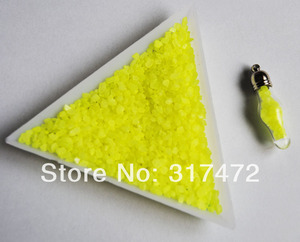 Бесплатная Доставка! Желтый камень пыль/Фея песок камень материал для стеклянный флакон пузырек Новый 100 грамм (можно выбрать цвет)