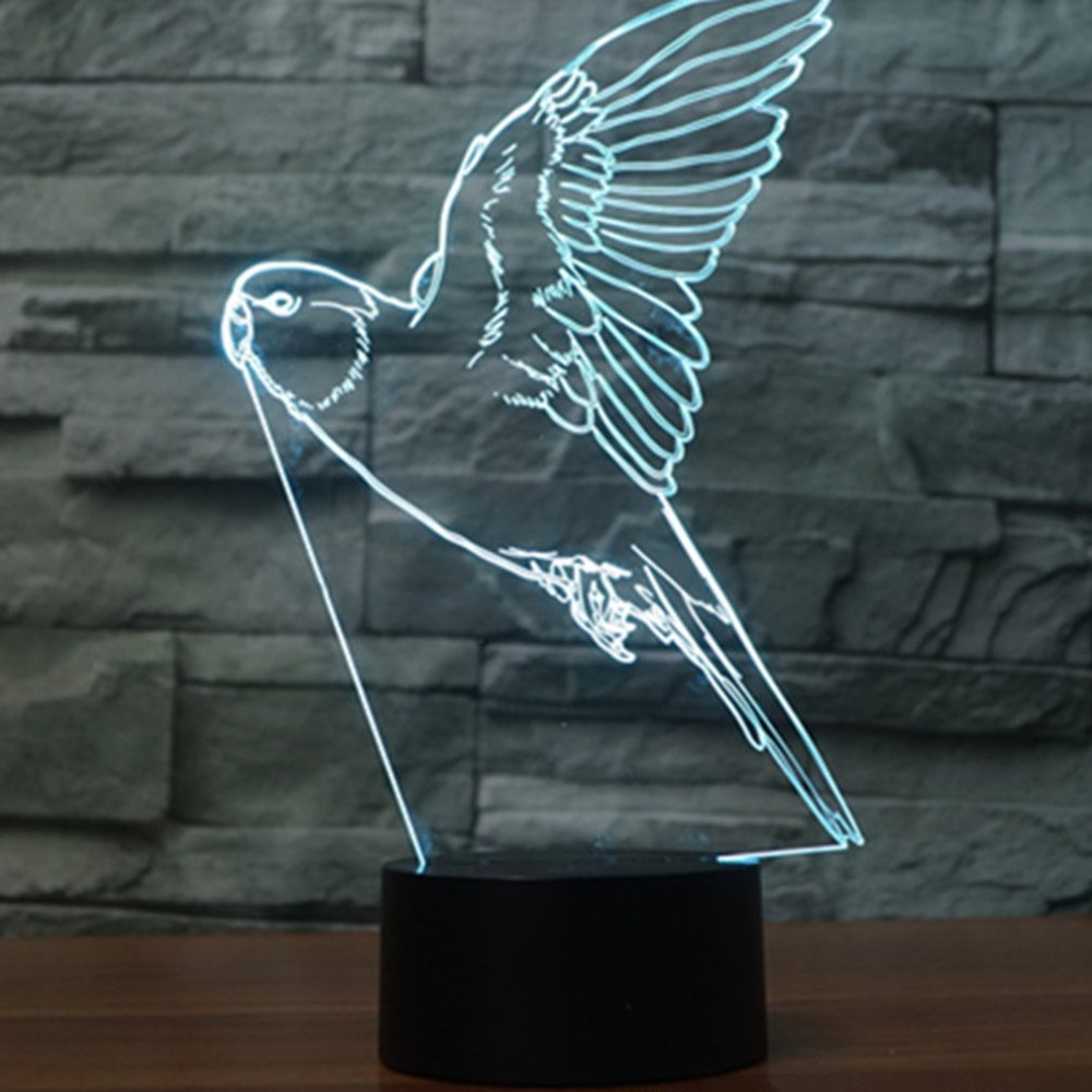 Touch Table Lamp 7 Colors Changing Desk Lamp 3d Lamp Led Night Light Stereoscopic Illumination Led Lamps