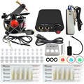 Professional Complete Tattoo Kits Set 1 Pro Machine Gun Complete With Power Supply Needles Grips For Tattoo Supplies