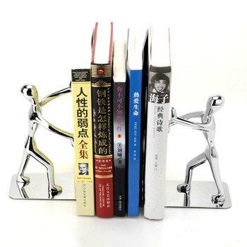 Escritorio Con Estantería | 1 Par De Libros De Metal Fuerte Leer Soporte Portátil Estantería Soporte De Escritorio De Estudiante Organizador De Accesorios NB010