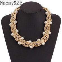 938efed4b304 Naomy y ZP gran simulado collar de perlas para mujeres collar grueso  declaración gran gargantilla collares accesorios de joyería.