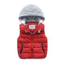 baby clothes wholesale baby girls waistcoat boys hooded vest baby cotton-padded thickening thermal waistcoat for new baby jacket