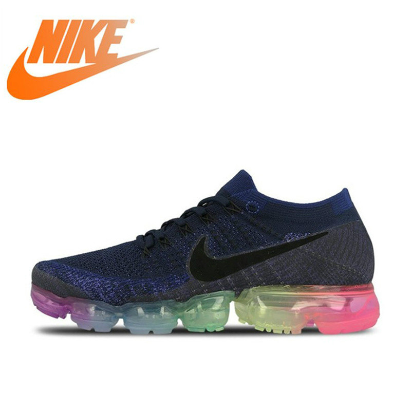 Original Nike Air VaporMax Be True Flyknit Breathable Mens Running Shoes Sports Official Outdoor Sneakers Rainbow New ArrivalOriginal Nike Air VaporMax Be True Flyknit Breathable Mens Running Shoes Sports Official Outdoor Sneakers Rainbow New Arrival