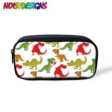 Dinosaurs School Pencil Case & Bags Large Capacity Canvas Pen Box For Boy Students Gifts Stationery Tyrannosaurus Makeup Bag