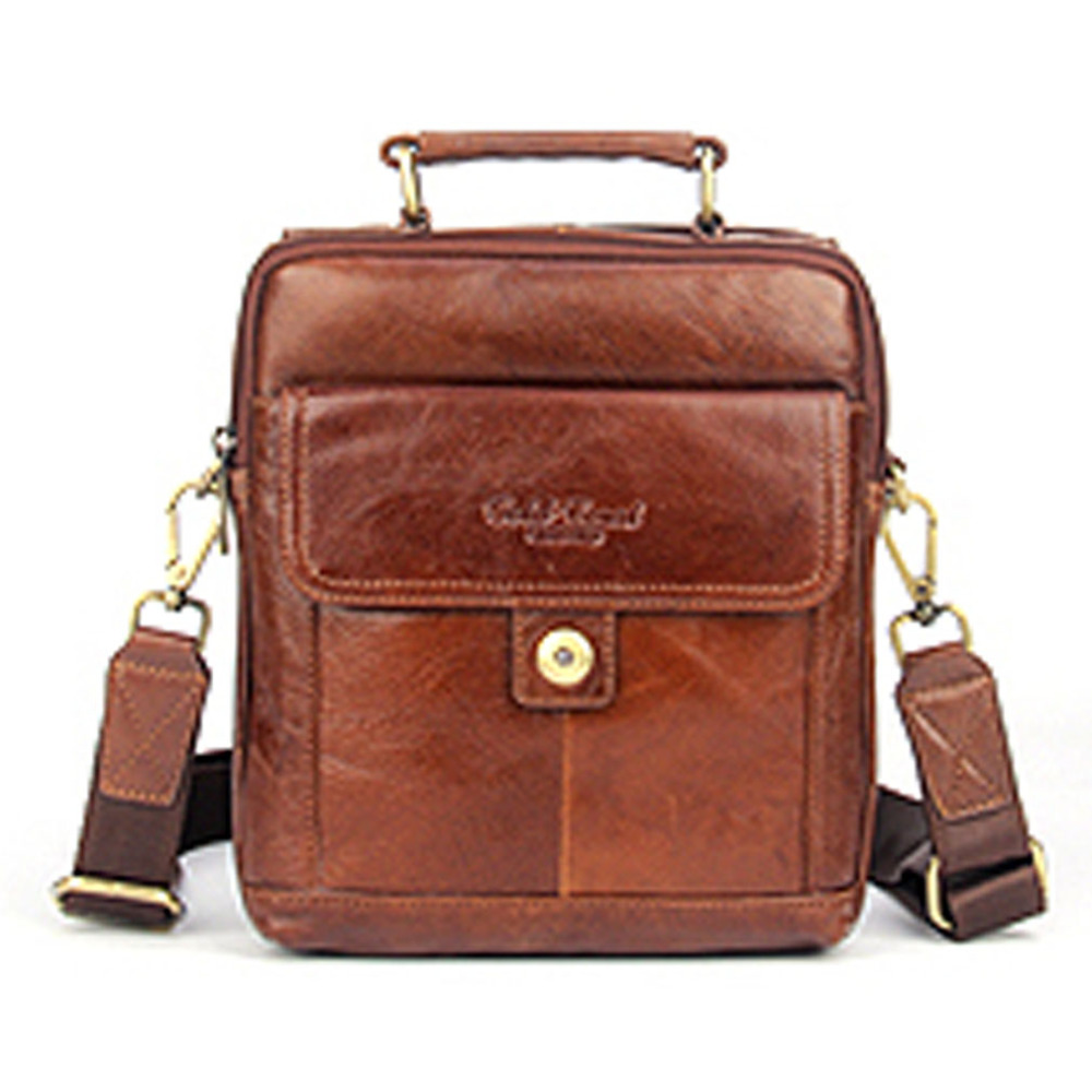 Genuine Leather Men Casual Vintage Shoulder Messenger Cross Body Bag Brand Male Business Tote Handbag New Handbags new casual business leather mens messenger bag hot sell famous brand design leather men bag vintage fashion mens cross body bag