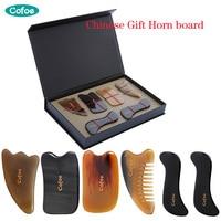 Cofoe 6 PCS Skin Facial Head Body Care Treatment Slimming Massage GUASHA Board Comb Scraping Scraper Massager Tool Set GIFT