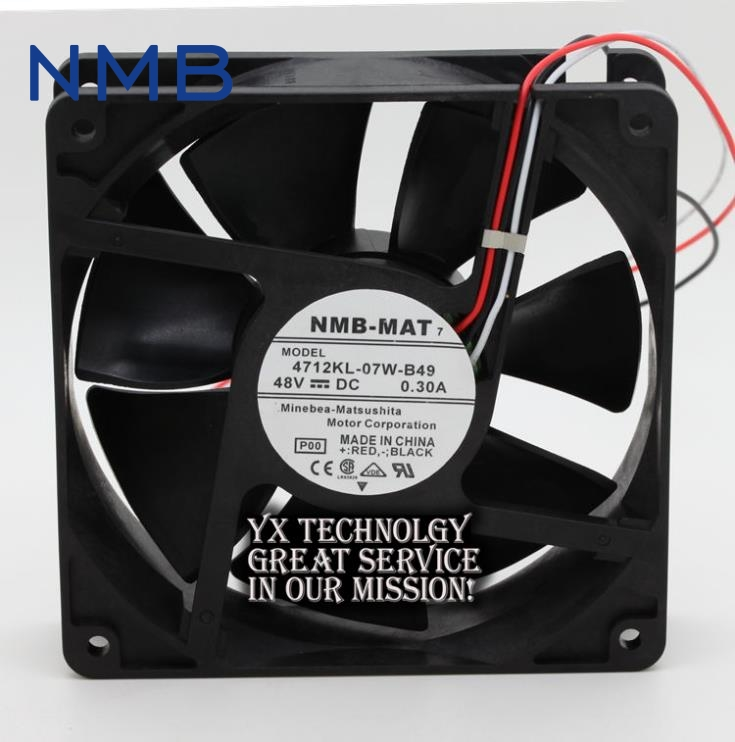 NMB New and Original 4712KL-07W-B49 48V 0.3A 12cm 12032 chassis fan drive for NMB 120*120*32mm nmb 12cm 12038va 48r gl 12038 48v 0 90a 3wire 120mm waterproof ip55 cooling fan 4715vl 07w b69