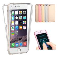 RHOADA 360 Degree Full Body Protect Soft TPU Case For iphone 7 Plus 4s 5s SE 6s Cover Silicon Gel Coque Crystal Clear Skin Shell(China)