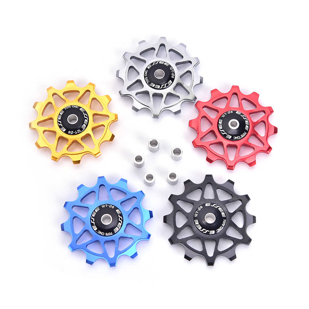 12T Aluminum Alloy MTB Bicycle Rear Derailleur Pulley Jockey Wheel Road Bike Guide Roller Idler Part Cycling Accessory