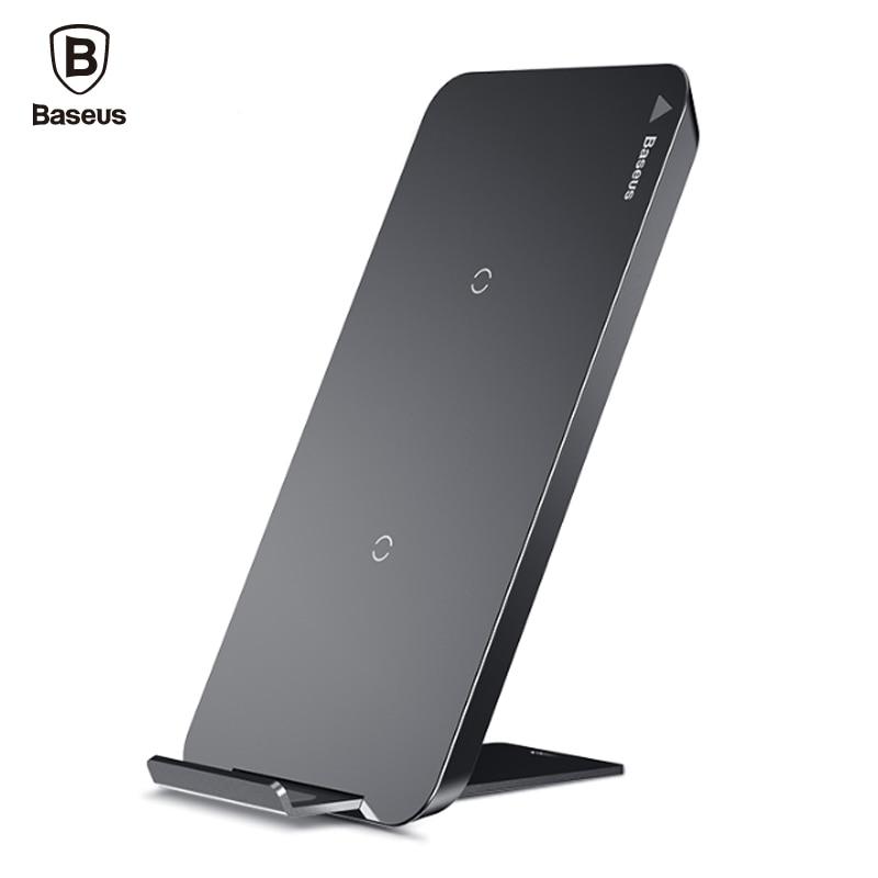 BASEUS QI Беспроводной Зарядное устройство для iPhone X 8 Samsung Примечание 8 S8 плюс S7 S6 Edge телефон быстро Беспроводной зарядки док-станция