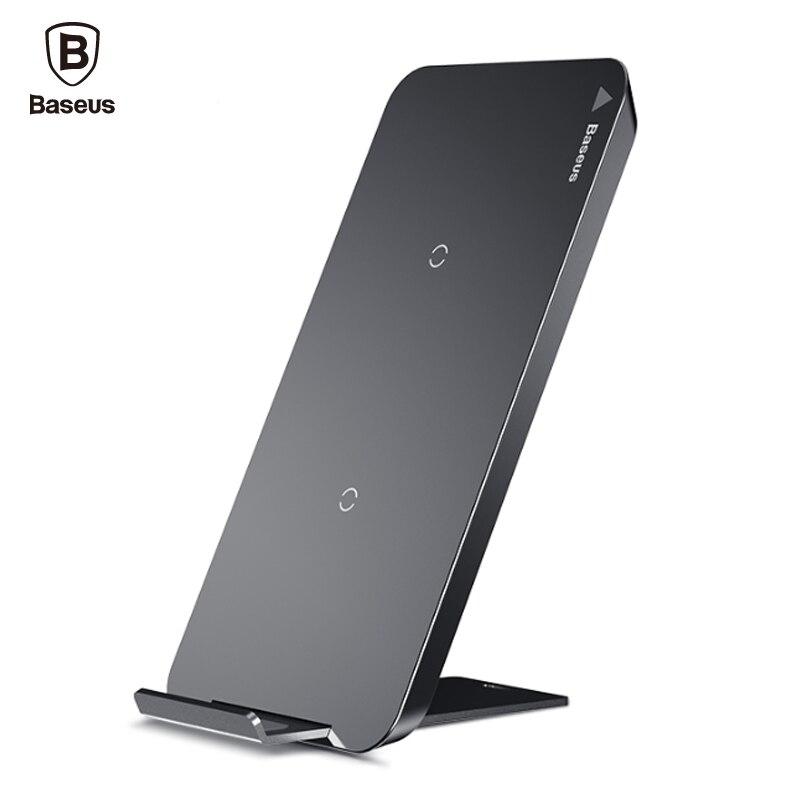 Baseus Carregador Sem Fio Qi Para o iphone X 8 Samsung Nota 8 Além de Borda S6 S7 S8 Telefone Rápido Carregamento Sem Fio Doca Docking estação