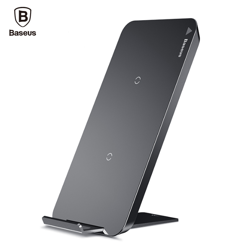 Baseus Qi Wireless Charger For iPhone X 8 Samsung S9 S8 S7 S6 Edge Note 8 Phone Rapid Wireless Charging Pad Docking Dock Station