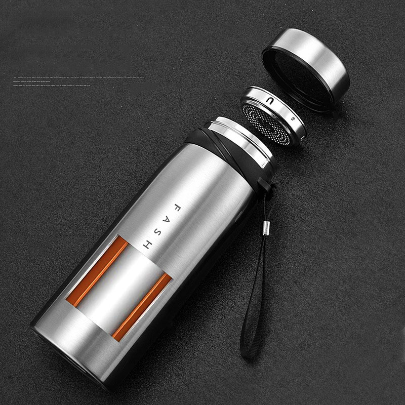 Image 4 - 500/650/900/1100ml Thermos Bottle Stainless Steel Tumbler Insulated Water Bottle Portable Vacuum Flask for Coffee Mug Travel Cup-in Vacuum Flasks & Thermoses from Home & Garden