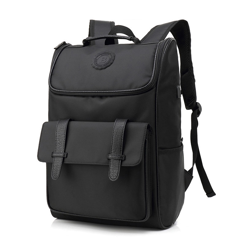Pure Black Male Large Capacity Laptop Backpack Man USB Design Oxford Cloth Knapsack Waterproof Shoulders Bag Mochila Masculina laoa shoulders backpack tool bag multiction oxford fabric electrician bags knapsack for eletricista tools storage