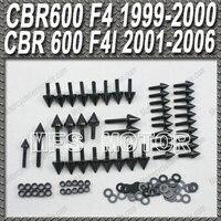 Black For Honda CBR 600 F4 CBR 600 F4i Motorcycle Part Fairing Bolts kit Aluminum Spike CBR600 F4 CBR600 F4i