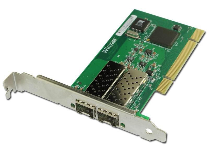 2 Port SFP Gigabit Fiber Ethernet Adapter PCI NIC Card ...