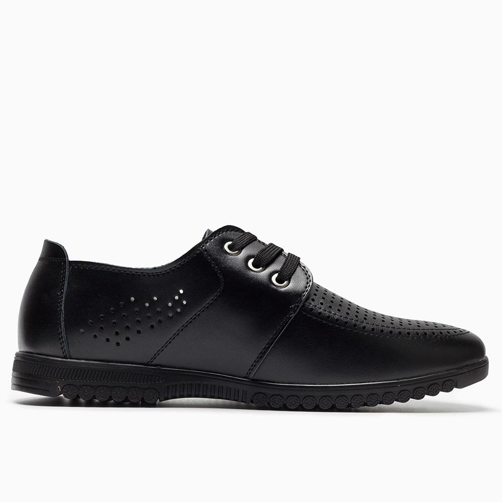 2018 mężczyzn dorywczo skórzane buty nowy wypoczynek dziura - Buty męskie - Zdjęcie 2