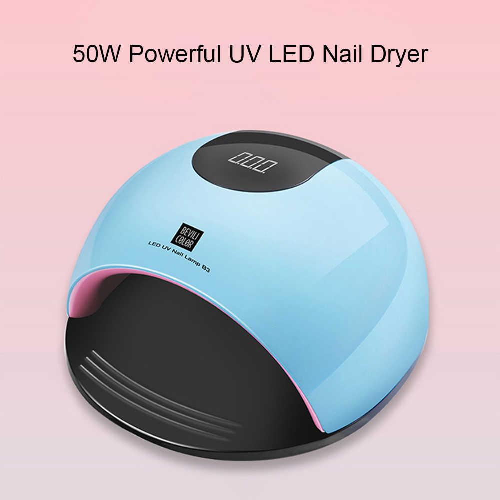 50 Вт УФ светодиодная лампа для сушки ногтей маникюра отверждения смарт лака